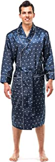 Noble Mount Mens Satin Robe - Lightweight Silky Robes for Men, Smoking Robe