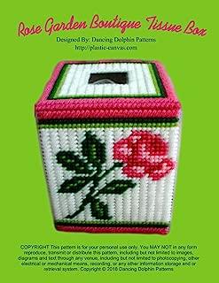 Rose Garden Boutique Tissue Box: Plastic Canvas Pattern