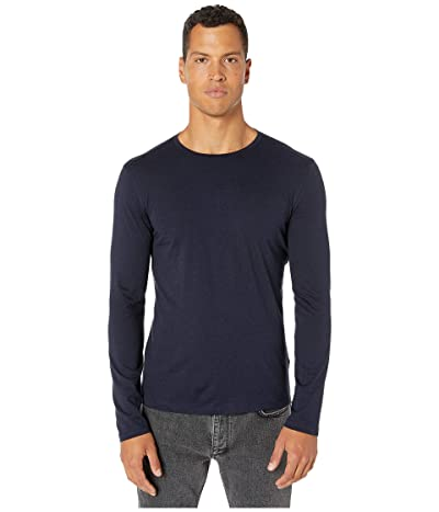 John Varvatos Collection Slim Fit Cotton/Cashmere Crew T-Shirt K3144V3 (Midnight) Men