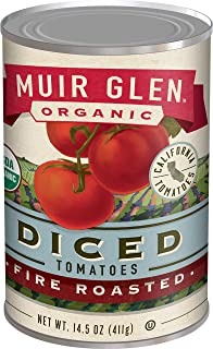 Muir Glen Canned Tomatoes, Organic Diced Tomates, Fire Roasted, No Sugar Added, 14.5..