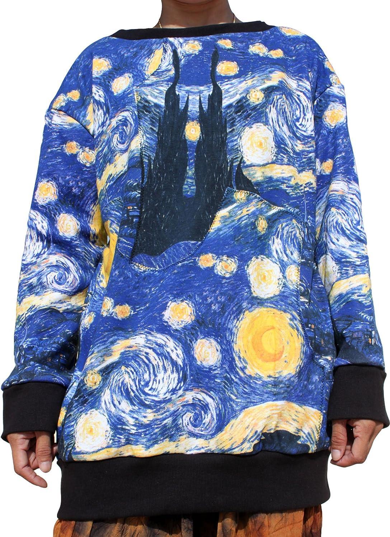 Raan Pah Muang Van Gogh Jumper The Starry Night Lined Sweater Shirt