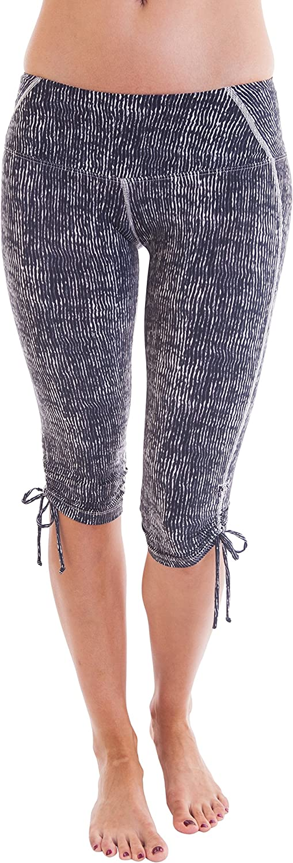 Alii Lifestyle Women's Zola Printed Crop Leggings with Side Ties