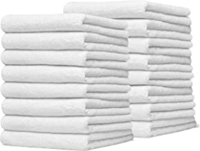 Eco Linen Cotton Salon Towels - Gym Towel Hand Towel - (24-Pack, White) - 16 x 26 inches - Organic Ringspun Cotton, Maximum Softness and Absorbency, Easy Care