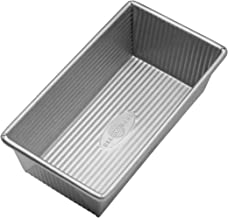 USA Pan Bakeware Aluminized Steel Loaf Pan 1140LF 8.5 x 4.5 x 3 Inch, Small, Silver