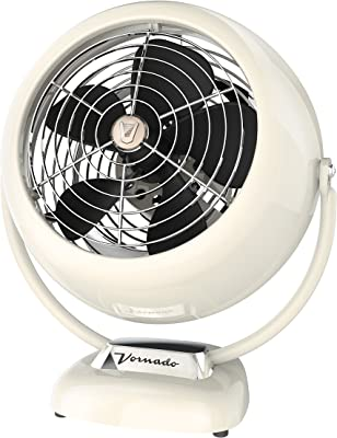 Vornado VFAN Vintage Air Circulator Fan, Vintage White