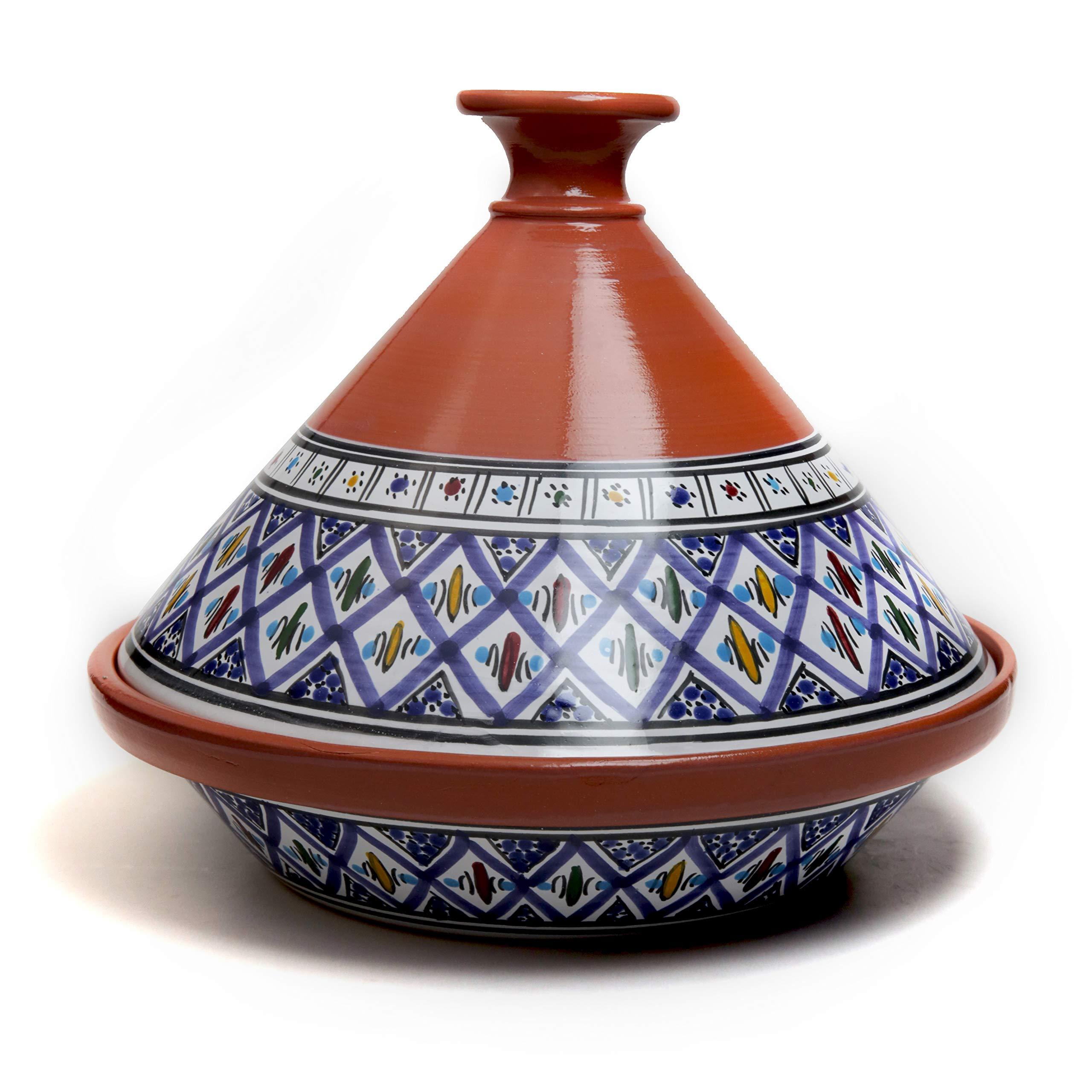 Bohemian Handmade Hand painted Serving Tagine