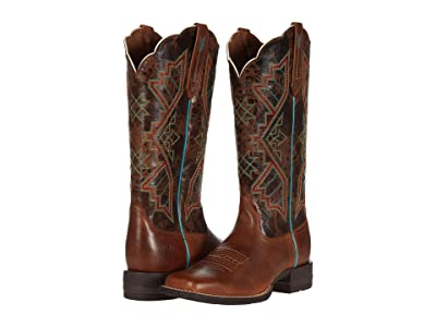 Ariat Jackpot (Pusset Rebel/Distressed Coffee) Cowboy Boots