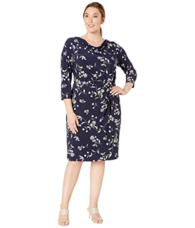 LAUREN Ralph Lauren Plus Size Trava Dress (Lighthouse Navy/Purple/Multi) Women