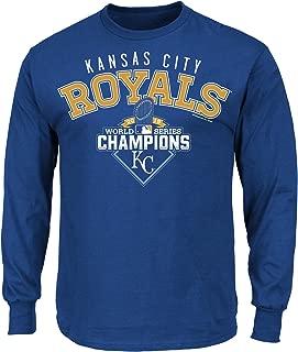 VF LSG MLB Kansas City Royals Men's World Series Champ The Cycle Long Sleeve Tee, Small, Royal