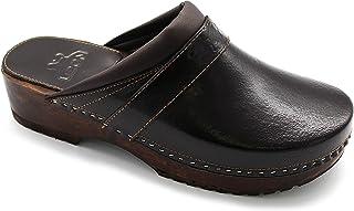LEON B4M Zuecos Zapatos Zapatillas de Cuero para Hombre