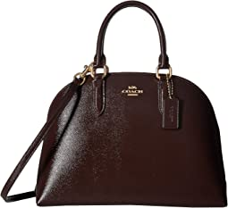 Quinn Satchel in Crossgrain Patent Leather