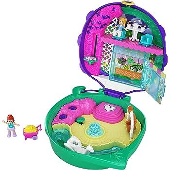 Polly Pocket Pocket World Lil' Ladybug Garden Compact, 2 Micro Dolls, Accessories
