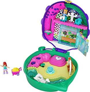 Polly Pocket Pocket World Lil' Ladybug Garden Compact, 2 Micro Dolls, Accessories