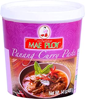 Mae Ploy Panang Curry Paste, Authentic Thai Panang Curry Paste for Thai Curries & Other Dishes, Aromatic Blend of Herbs, S...