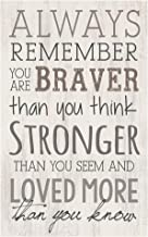 P. Graham Dunn Always Remember Braver Stronger Whitewash 10.5 x 17 Wood Pallet Wall Plaque Sign