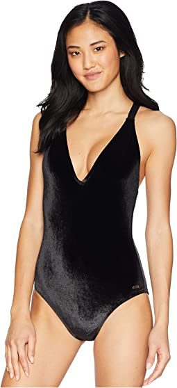 Western Escape Velvet One-Piece Swimsuit