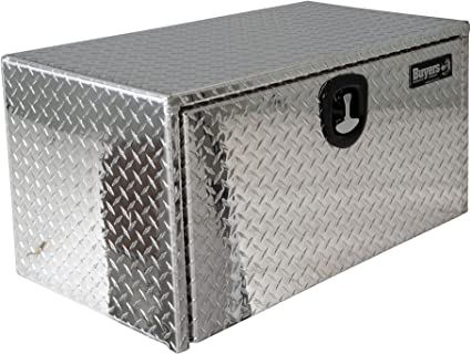 Buyers Products 1705105 Diamond Tread Aluminum Underbody Truck Box with T-Handle Latch, 18 x 18 x 36 Inch: image