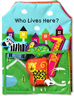 Melissa and Doug MD30270 K's Kids Who Lives Here? Cloth Activity Book,Multi,30270