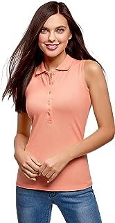 oodji Ultra Women's Cotton Top in Pique Fabric