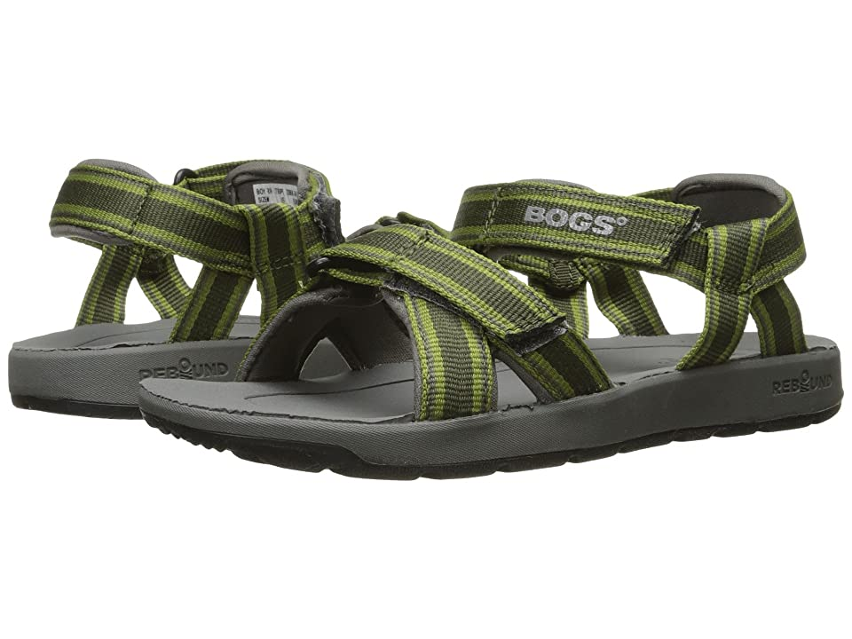 Bogs Kids Rio Stripes Sandal (Toddler/Little Kid/Big Kid) (Green Multi) Boys Shoes