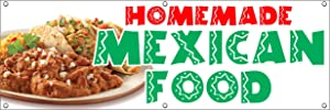 HOMEMADE MEXICAN FOOD VINYL BANNER SIGN tacos burritos restaurant enchilada restaurante (18