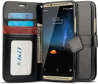 J&D Case Compatible for ZTE Axon 7 Case, [Wallet Stand] [Slim Fit] Heavy Duty Protective Shock Resistant Flip Cover Wallet Case for ZTE Axon 7 Wallet Case - [Not for ZTE Axon 7 Mini] - Black