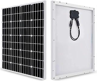 Panel Solar 50W 12V Monocristalino PERC - Panel Solar para Campers, Autocaravanas, Barcos y Montaje en Techos - Placa Solar Autoconsumo - Portátil, Ligero y Resistente