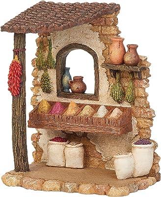"Fontanini 55604 6.5"" H Spice Shop for The 5"" Scale Nativity Figurines Village Building Accessory"