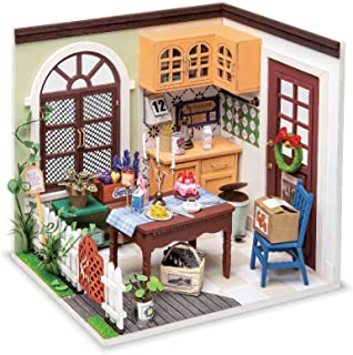Hands Craft DGM09, DIY 3D Wooden Miniature Dollhouse Build Your own Crafting Kit with Real LED Lights, Fun Educational STE...