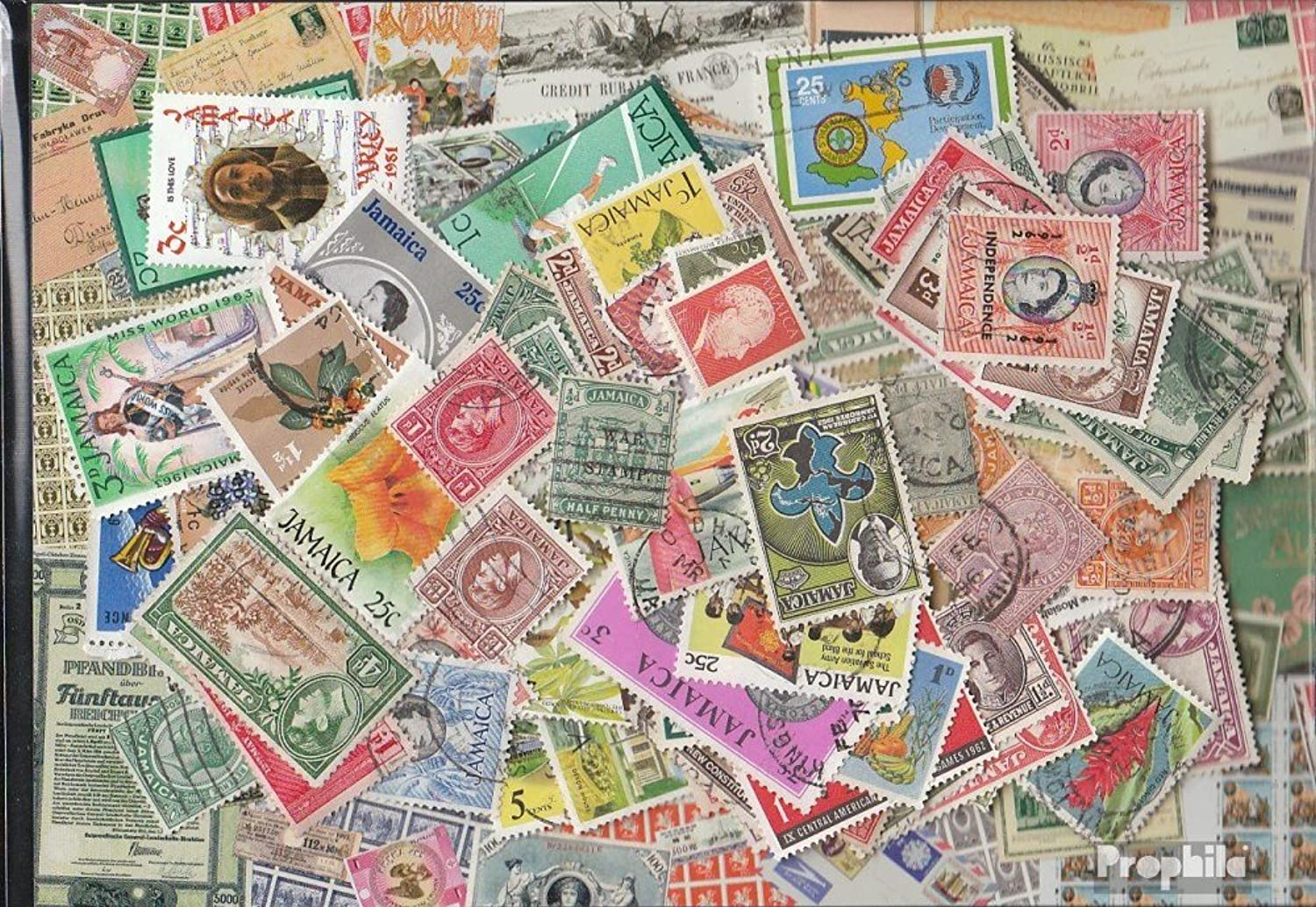 Jamaica 300 different stamps (Stamps for collectors)