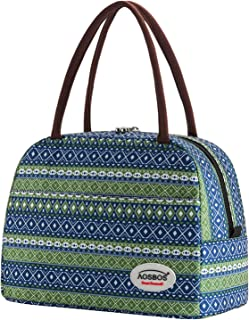 Lunch Bags for Women Insulated Lunch Tote for Meal Prep Containers Aosbos Bohemian Blue