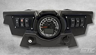 STVMotorsports Custom Aluminum Black Dash Panel for 2015-2018 Polaris RZR XP 900 with 4 Laser Rocker Switches Included