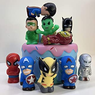 10PCS Super hero Cake Topper, Avengers League Cupcake Toppers for Kids Birthday Party Cake Decoration Supplie