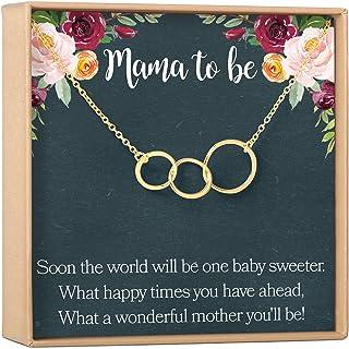 قلادة هدية للحمل بعبارة Dear Ava، الأم الجديدة، الأم المتوقعة، الأصدقاء الحامل، 3 دوائر غير متماثلة (مطلية بالذهب، NA)