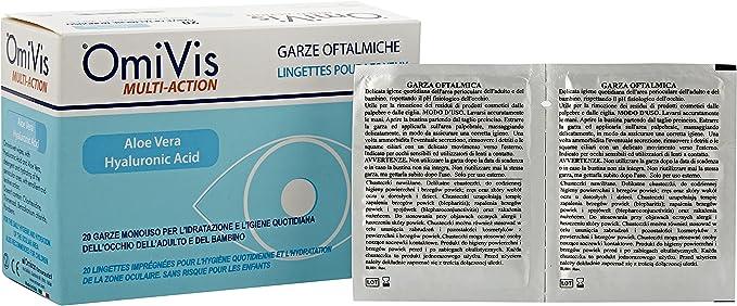 24 opinioni per Omivis Garze Oftalmiche Monouso con Acido ialuronico ed Aloe vera- 20 garze