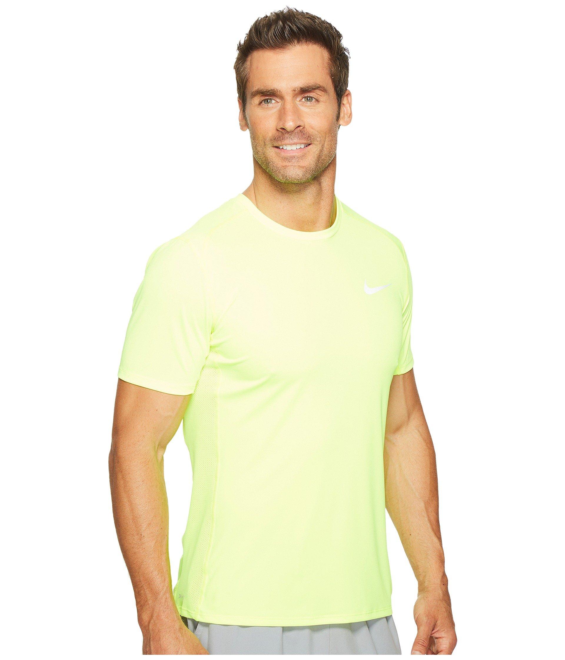 huge discount 5dda6 bcc3c Nike Dry Miler Short Sleeve Running Top, Volt Volt