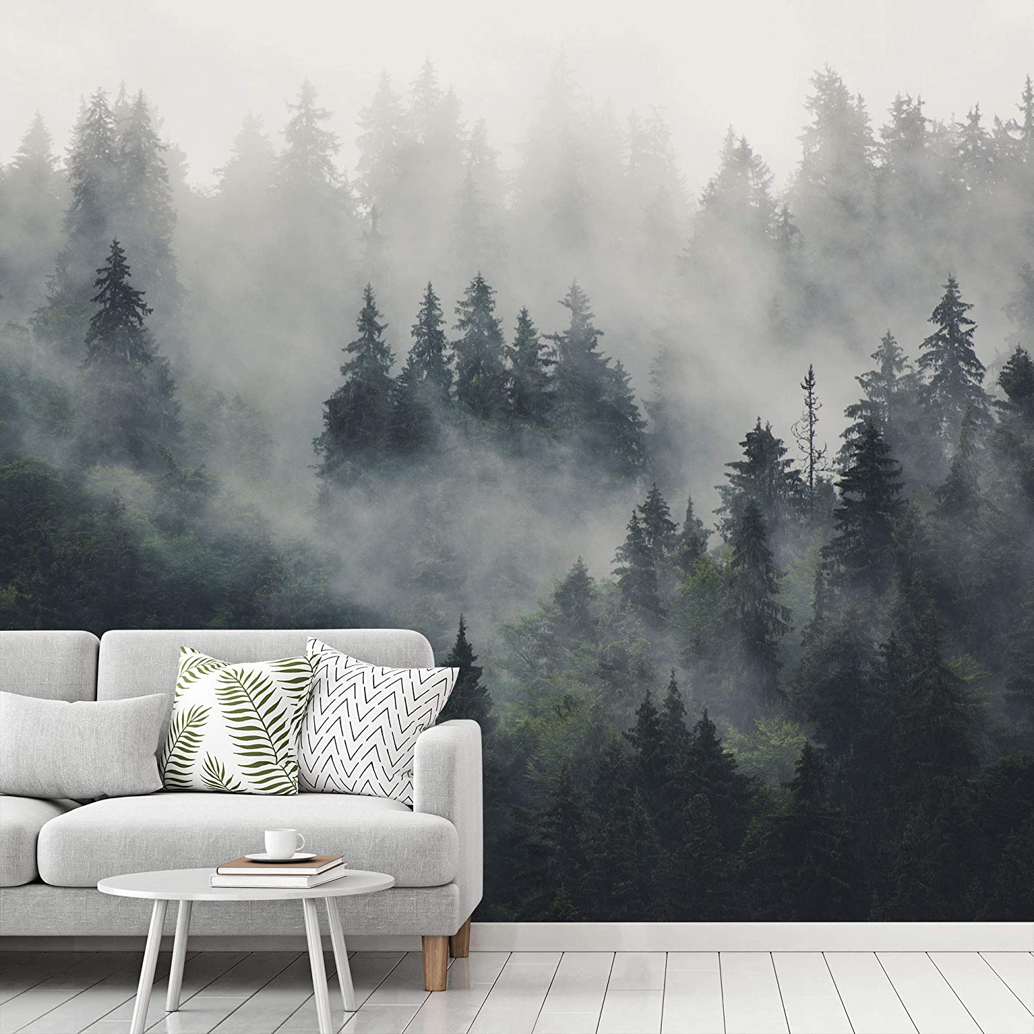 Buy Signwin Wall Mural Foggy Forest Removable Self Adhesive Wallpaper Wall Decoration For Bedroom Living Room 66x96 Inches Online In Turkey B08gbszjj3