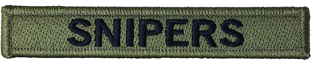 Snipers Military Tab Patch / Morale Patch - Green (RR-MORA-SNPR-GREN)