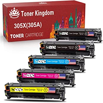 M451nw M451dn M451dw MFP M475dn M475dw M375nw Remanufactured Printer Toner Cartridge Replacement for HP 305A 2 Pack Cyan Remanufactured Toner Cartridge Replacement for HP 305A CE411A Toner Cartri
