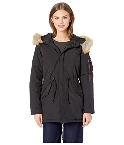 Alpha Industries J-4 Impact Primaloft Fishtail (Black) Women