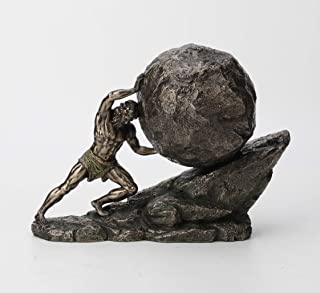 Veronese Design 8 1/8 Inch Sisyphus and The Eternal Boulder Cold Cast Resin Bronze Finish Statue Home Decor