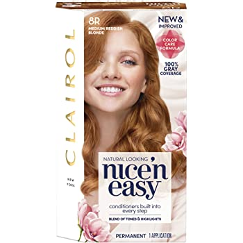Clairol Nice'n Easy Permanent Hair Color, 8R Medium Reddish Blonde, 1 Count