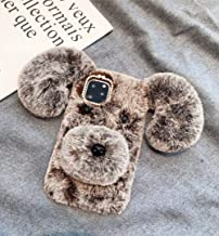 Losin Dog Case Compatible with Apple iPhone 11 6.1 inch Case Cute Fuzzy Furry Winter Rabbit Hair Warm Plush Fluffy Fur 3D Long Ear Dog Face Soft TPU case iPhone 11 Pro Max 6.5 inch I11-Dog-Fur-13