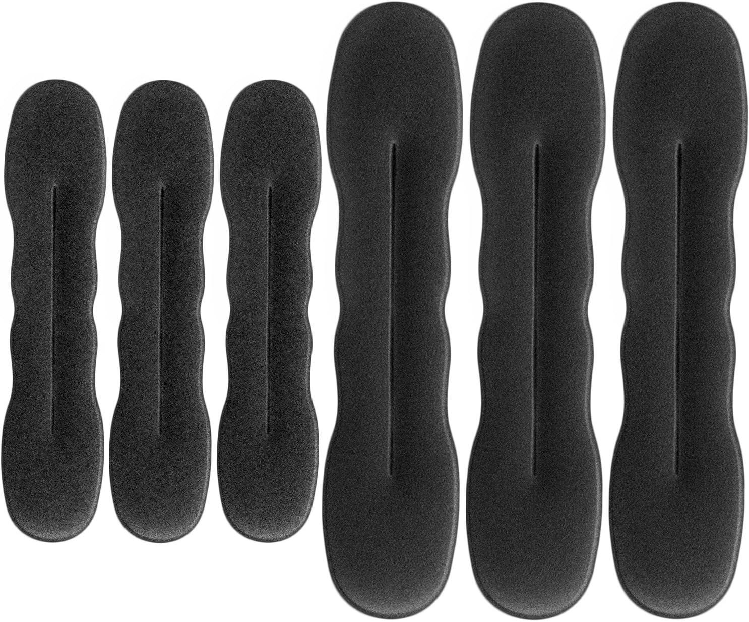 Set de 6 gomas para el pelo (3 grandes y 3 pequeñas) para coger el pelo, hacer moños etc