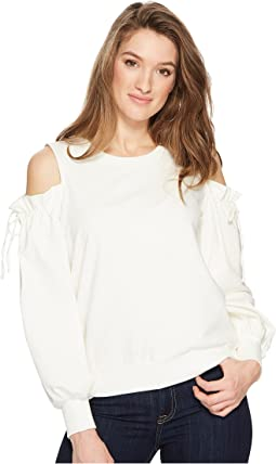Cold Shoulder Blouson Sleeve Sweatshirt