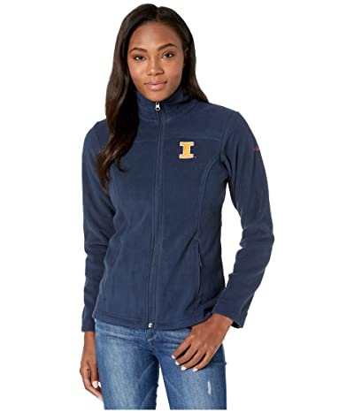Columbia College Illinois Fighting Illini CLG Give and Gotm II Full Zip Fleece Jacket (Collegiate Navy) Women