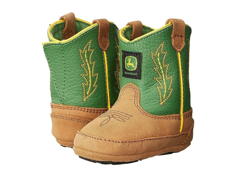 John Deere Johnny Poppertm Crib (Infant/Toddler) (Tan/Green) Cowboy Boots