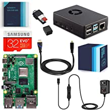 Vilros Raspberry Pi 4 Complete Starter Kit with Fan-Cooled Heavy-Duty Aluminum Alloy Case (4GB, Black)
