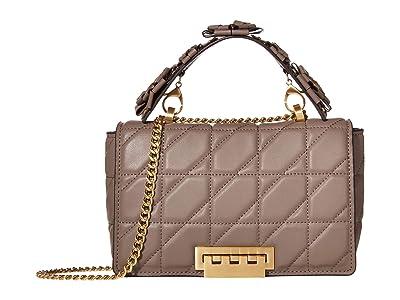 ZAC Zac Posen Earthette Medium Soft Chain Shoulder Solid Quilted (Shale) Handbags