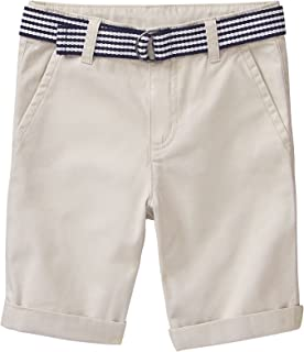 Gymboree Boys' Little Belted Twill Shorts